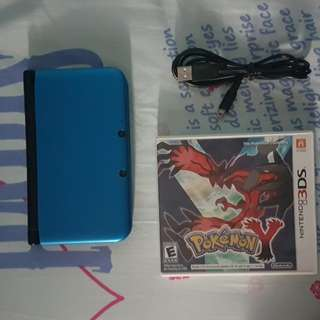 3DS XL with Pokemon Y