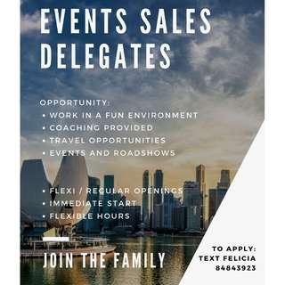 Event Sales Delegates (Career Progression)