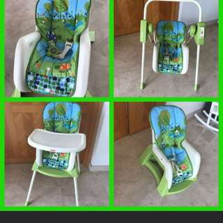 Fisher price 4 in 1 infant seat, swing, high chair, toddler chair