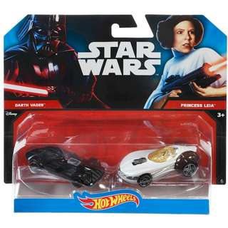 Hotwheels Star Wars Darth Vader Princess Leia