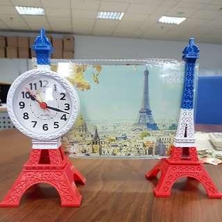 Frame Foto dan Jam Meja