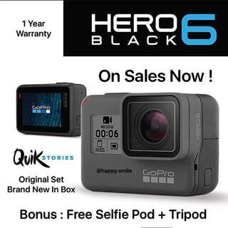 ( Temporary Out of Stock ) GoPro Hero 6 Black ( Original Set )