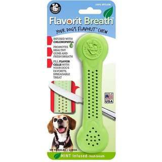 USA Made Brand New Pet Qwerks Flavorit -Breath/Mint Flavored Nylon Bone for Aggressive Chewers Large