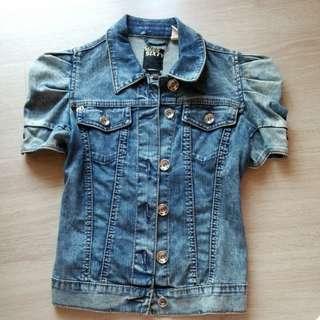 miss sixty 修身 公主袖 牛仔短褸 slim cut fitted denim jacket