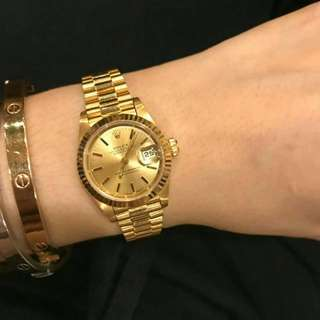 Rolex ladies all gold