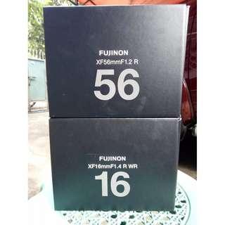 Fujifilm 16mm 1.4 and 56mm 1.2 | Brand new units