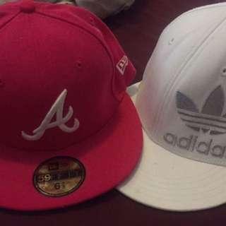 Pink New Era & White Adidas Flat Cap Authentic