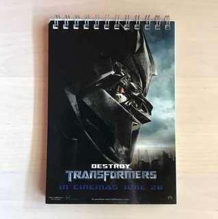 Transformers Notepad 15cm x 10.5cm