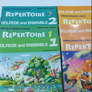 Yamaha Junior Extension Course (JXC) Solfege & Ensemble and Repertoire books and CD