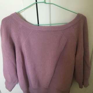 🚚 轉賣lulus粉紫色針織上衣