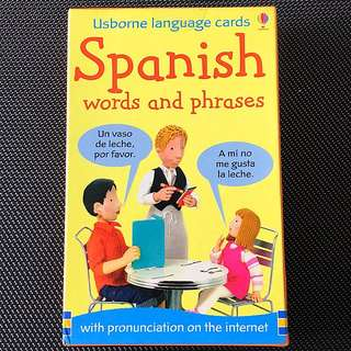 50 Usborne Language Cards Spanish words and phrases (with pronunciation on the internet)