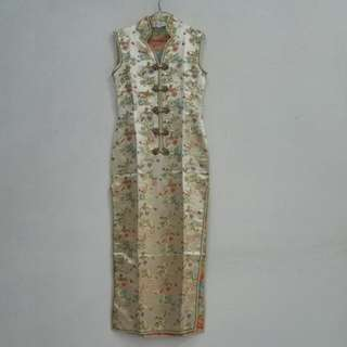 Cheongsam Gold/ Shanghai Long Dress