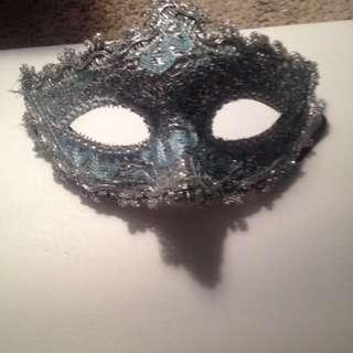 Blue masquerade mask