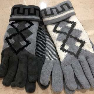 Men's gloves winter sarung tangan pria rajut