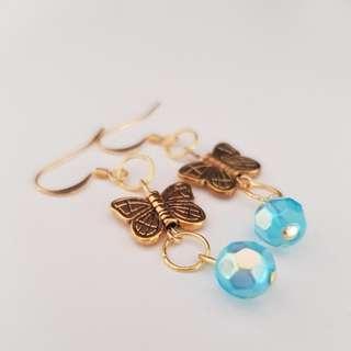 Butterfly handmade earrings