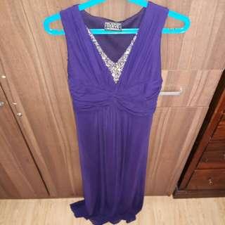Purple long gown (Cinderella)