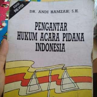 Buku Pengantar Hukum Acara Pidana Indonesia