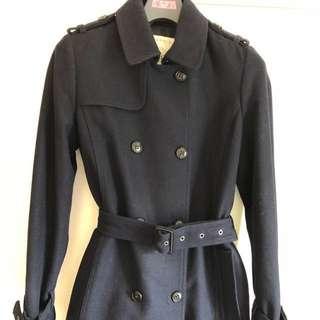 Esprit Navy Wool Trench Coat