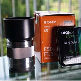 Sony 50mm 1.8 OSS Silver Rare