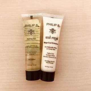 🚚 PHILIP B草本溫和造型膠+馬上捲護髮造型乳
