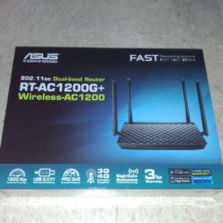 Asus dual band wifi router RT-AC1200G+