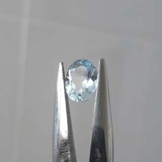 Blue Topaz, Oval shape mix cut, fine quality. Eye clean. Very nice Sky blue.