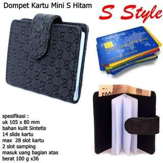 Dompet Kulit Kartu Mini S Style black