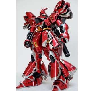 Bandai 高達模型上色成品 MG 1:100 Sazabi Ver.Ka (Gundam Model Kits)