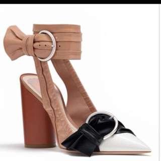 Christian Dior Patent Tricolour Calfskin Heels
