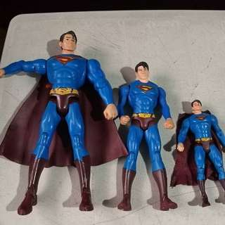 Dc superman assorted as is 12in 10in and 7inches