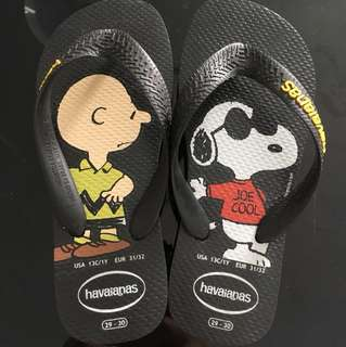 Havaianas Slippers (Snoopy and Charlie Brown)
