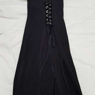 Forever 21 tight dress with corset and slit