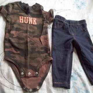 Baby boy onesie & stretch pants