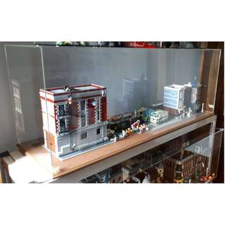 Acrylic Display Box - Fits Tallest Lego Modular & Ghostbuster Firehouse - Good Condition