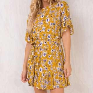Yellow dress AUS size 8