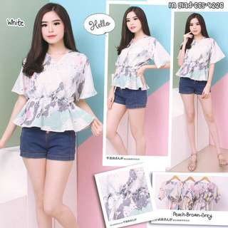 Blouse abstrak paint