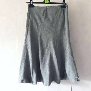 🈹sale! Japan23区魚尾及膝裙 Grey Fish Tail Skirt