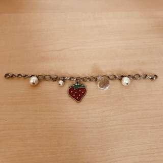 🚚 草莓珍珠裝飾鍊
