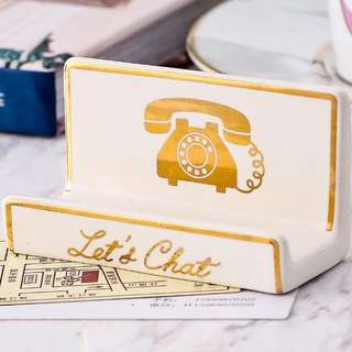 Vintage Boutique Hotel Name Card Stand