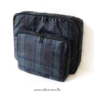 Olivo經典格收納旅行袋組(2入)