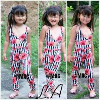 Stripes Floral Jumpsuit