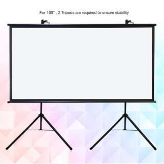 "[BIGSHINE] 100"" (16:9) EZ Tripod Projector Screen"