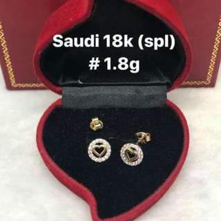 18K SD gold spl earrings