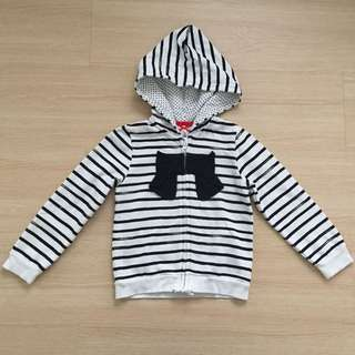 Mothercare Stripes & Bow Zipper Sweater