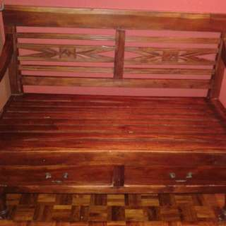 Jati wood 2 seater chair