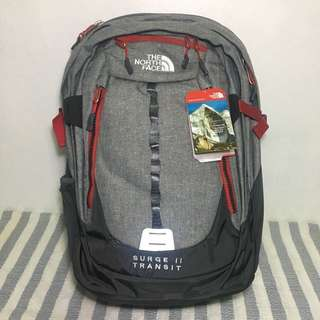 🎒North Face Surge II Transit (Gray/Red)
