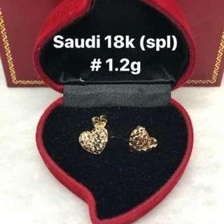 18 Sd gold earrings   pawnable Special