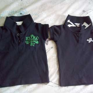 Polo shirt(2) color-dark blue& black