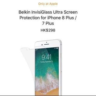 Belkin InvisiGass Ultra mon貼 iPhone 7/8 Plus & iPhone X