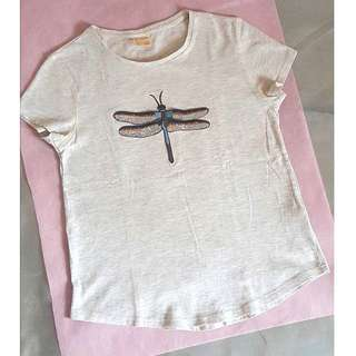 💮Barely Used Zara Girls Embellished Baby Tee